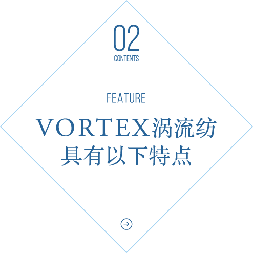 VORTEX涡流纺具有以下特点