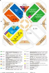 ITMA ASIA + CITME 2018展馆分色布局图(竖版)0822-2